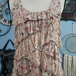 Lauren Conrad Floral Tank sz S, Thrifted